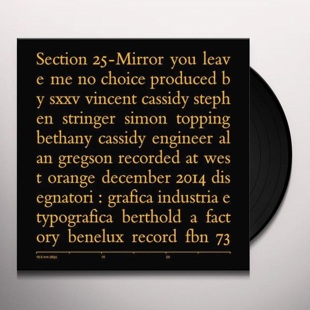 Section 25 MIRROR Vinyl Record