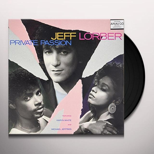 Jeff Lorber / Karyn White PRIVATE PASSION Vinyl Record