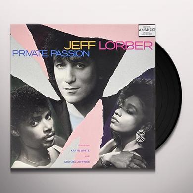 Jeff Lorber / Karyn White PRIVATE PASSION Vinyl Record