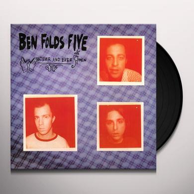 Ben Folds Five WHATEVER & EVER AMEN Vinyl Record - 180 Gram Pressing