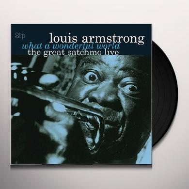 Louis Armstrong WHAT A WONDERFUL WORLD-THE GREAT SATCHMO LIVE Vinyl Record