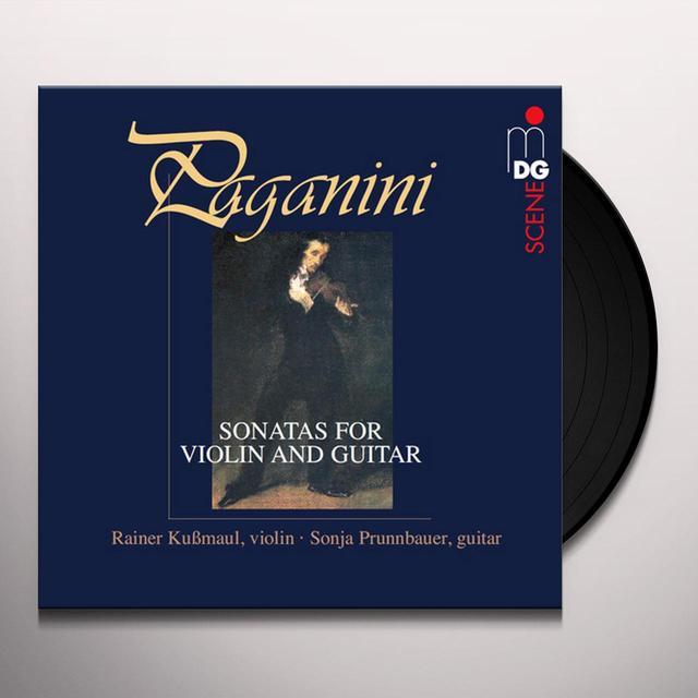 Paganini / Rainer Kubmaul / Sonja Prunnbauer SONATAS FOR VIOLIN FOR VIOLIN & GUITAR Vinyl Record