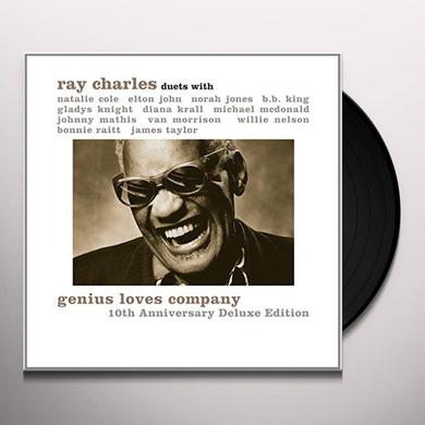 Ray Charles GENIUS LOVES COMPANY (10TH ANNIVERSARY EDITION) Vinyl Record