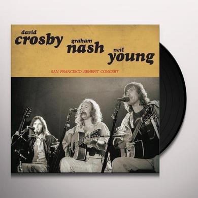 Crosby, Stills, Nash & Young SAN FRANCISCO BENEFIT CONCERT Vinyl Record