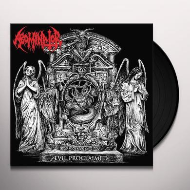 ABOMINATOR EVIL PROCLAIMED Vinyl Record