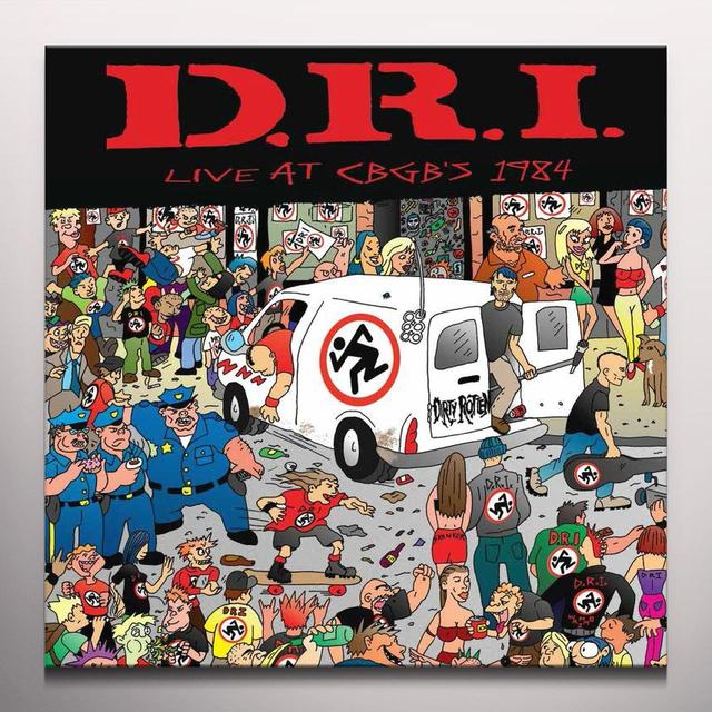 D.R.I. LIVE AT CBGB'S 1984 Vinyl Record - Limited Edition, White Vinyl, Remastered