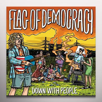 Flag Of Democracy DOWN WITH PEOPLE Vinyl Record - Limited Edition, Yellow Vinyl