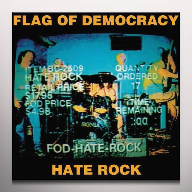 Flag Of Democracy HATE ROCK Vinyl Record - Limited Edition, Orange Vinyl