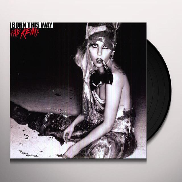 Lady Gaga BORN THIS WAY: REMIX Vinyl Record - Holland Release