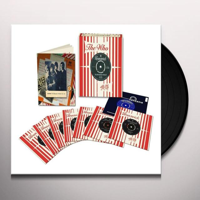 Who BRUNSWICK SINGLES (BOX) Vinyl Record