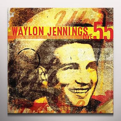 Waylon Jennings WAYLON 55 LIVE Vinyl Record - Colored Vinyl, Limited Edition, White Vinyl