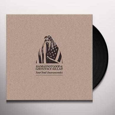 GHOSTFACE KILLAH and BADBADNOTGOOD SOUR SOUL (INSTRUMENTALS) Vinyl Record - Digital Download Included