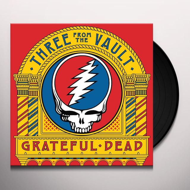 Grateful Dead THREE FROM THE VAULT Vinyl Record - Gatefold Sleeve, Remastered