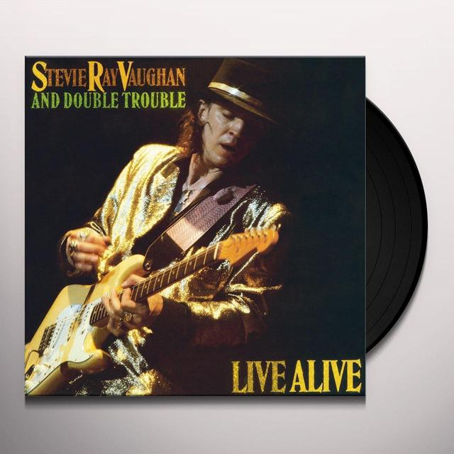 Stevie Ray Vaughan LIVE ALIVE Vinyl Record - Holland Import