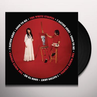 The White Stripes SEVEN NATION ARMY / GOOD TO ME Vinyl Record - Black Vinyl, Remastered
