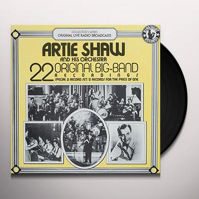 Artie Shaw Orchestra 22 ORIGINAL BIG BAND RECORDINGS Vinyl Record