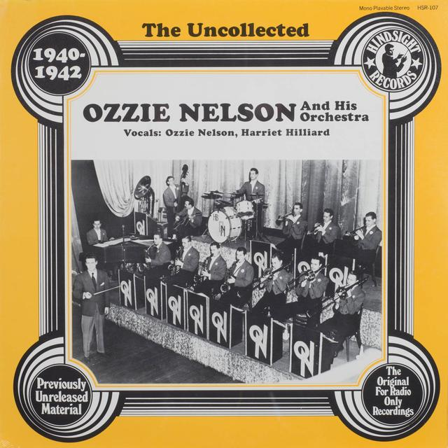 The Ozzie Nelson Orchestra UNCOLLECTED Vinyl Record