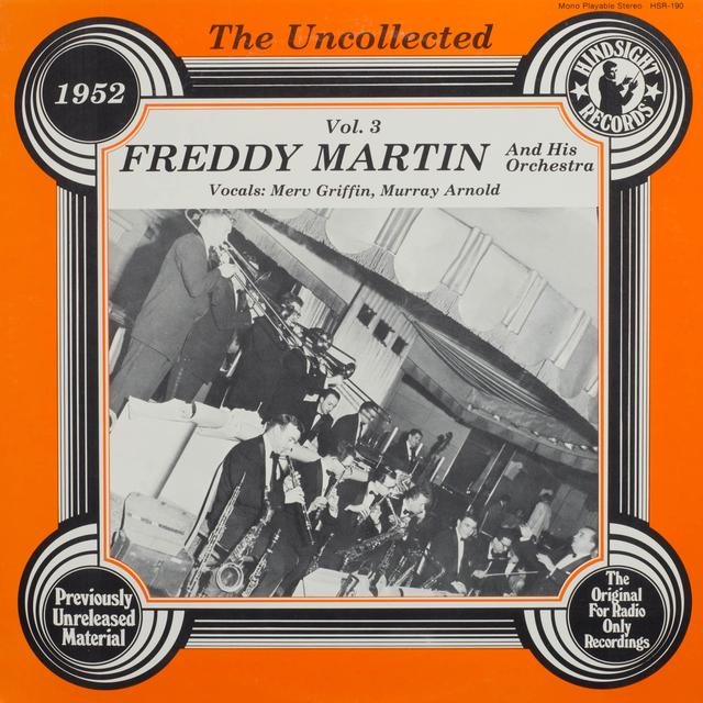 Freddy Martin Orchestra UNCOLLECTED 3 Vinyl Record