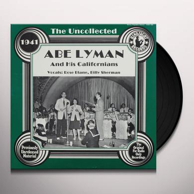 Abe Lyman & His Calfornians UNCOLLECTED Vinyl Record