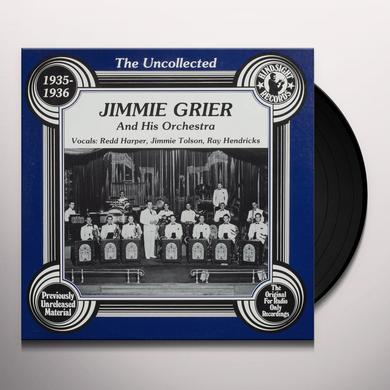 Jimmie Grier Orchestra UNCOLLECTED Vinyl Record