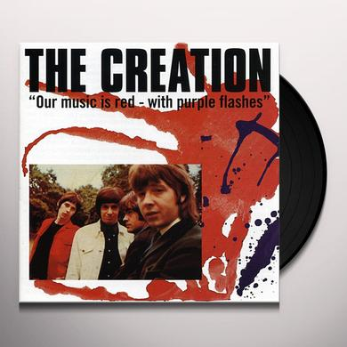 The Creation OUR MUSIC IS RED WITH PURPLE FLASHES Vinyl Record
