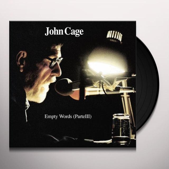John Cage EMPTY WORDS (PARTE III) Vinyl Record