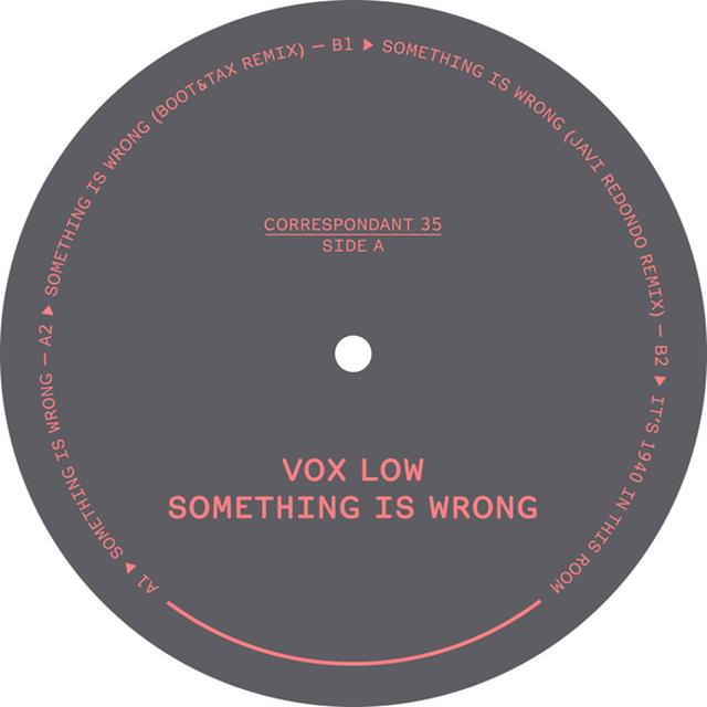 VoX LoW SOMETHING IS WRONG Vinyl Record