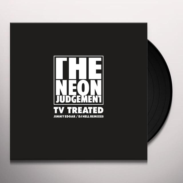 The Neon Judgement TV TREATED (JIMMY EDGAR / DJ HELL REMIXES) Vinyl Record
