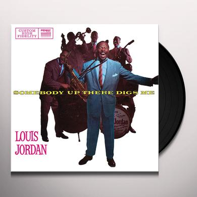 Louis Jordan SOMEBODY UP THERE DIGS ME Vinyl Record - w/CD