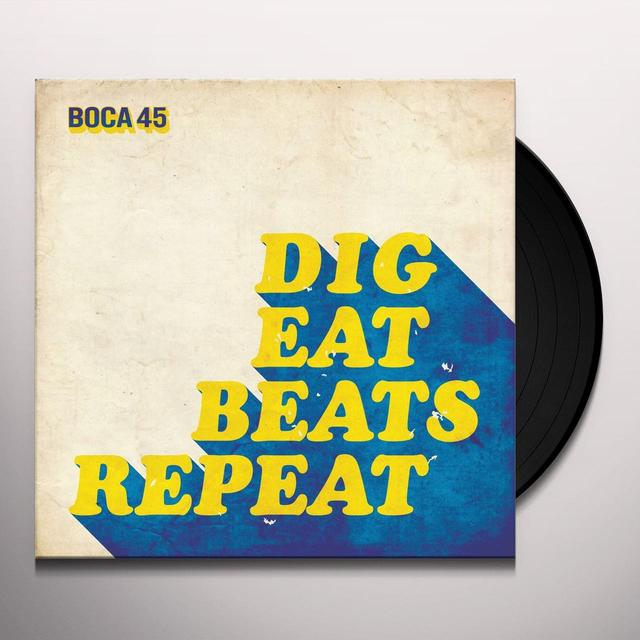 Boca 45 DIG EAT BEATS REPEAT Vinyl Record - UK Release