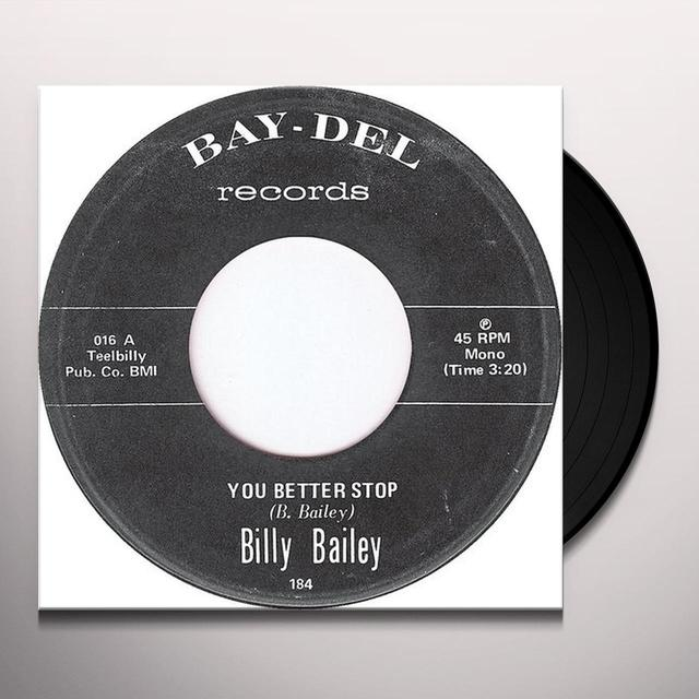 BILLY BAILEY YOU BETTER STOP Vinyl Record - UK Release