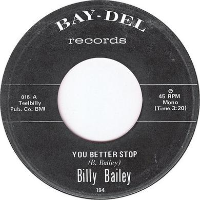BILLY BAILEY YOU BETTER STOP Vinyl Record
