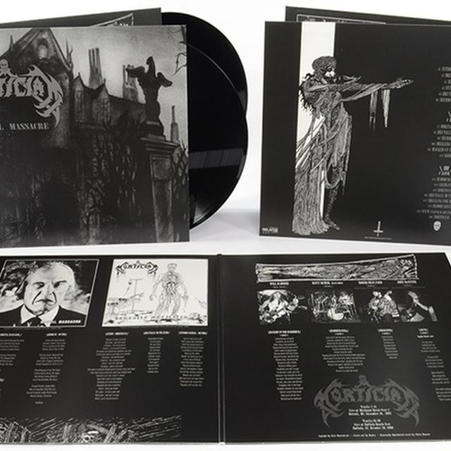 Mortician MORTAL MASSACRE Vinyl Record - UK Release