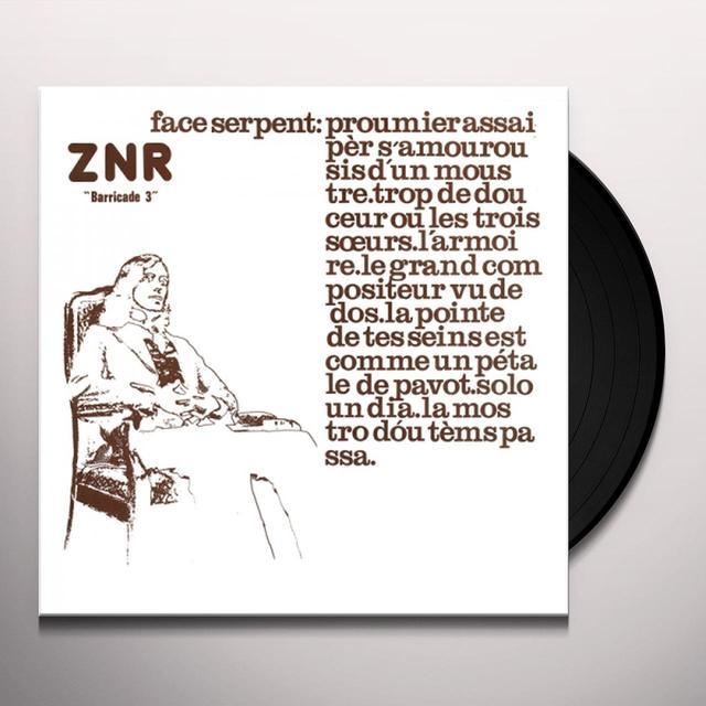 ZNR BARRICADE 3 Vinyl Record