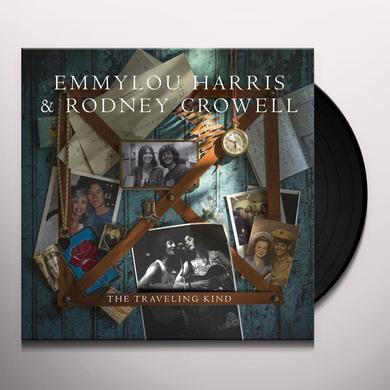 Emmylou Harris with Rodney Crowell TRAVELING KIND Vinyl Record