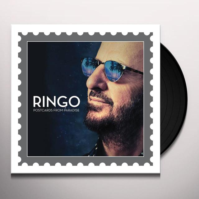 Ringo Starr POSTCARDS FROM PARADISE Vinyl Record - Canada Release