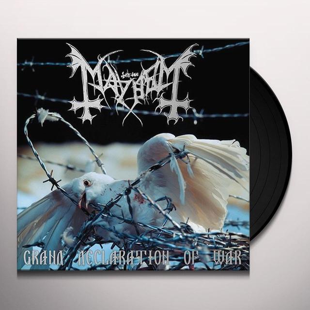 Mayhem GRAND DECLARATION OF WAR Vinyl Record