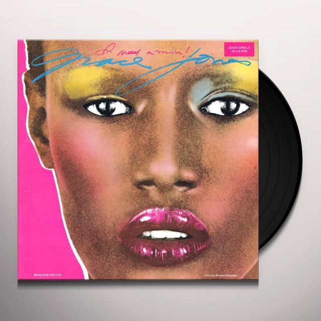 Grace Jones I NEED A MAN Vinyl Record - Italy Import