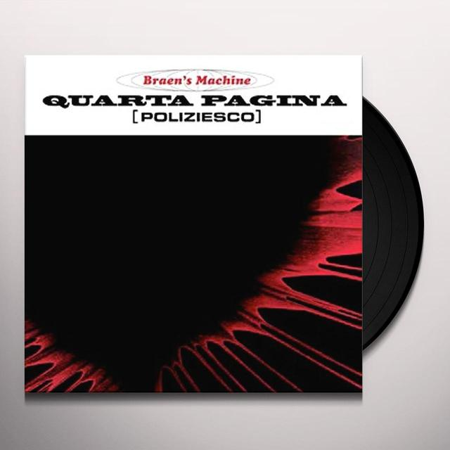 BRAEN'S MACHINE (W/CD) QUARTA PAGINA Vinyl Record - w/CD