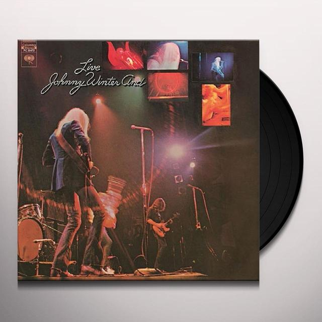 Johnny Winter LIVE Vinyl Record - Holland Import