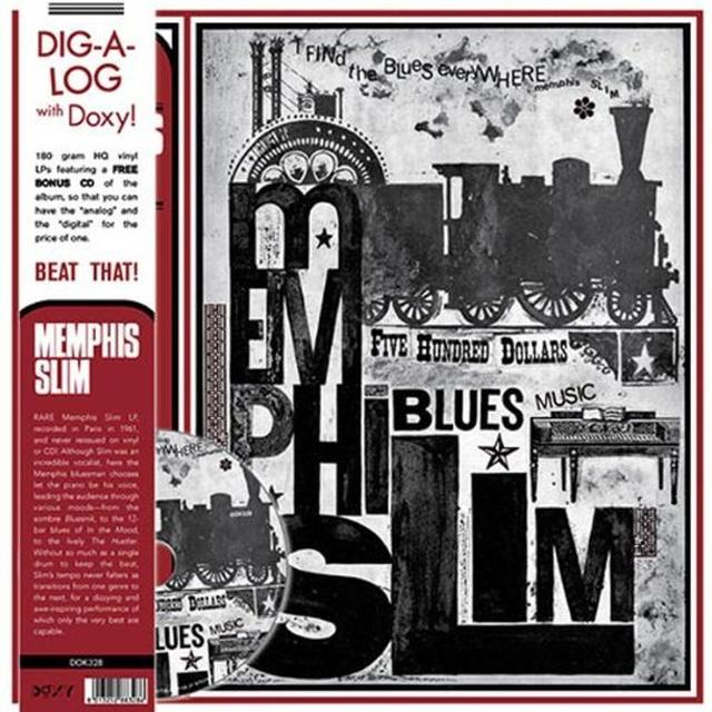 Memphis Slim FIND THE BLUES EVERYWHERE Vinyl Record - w/CD