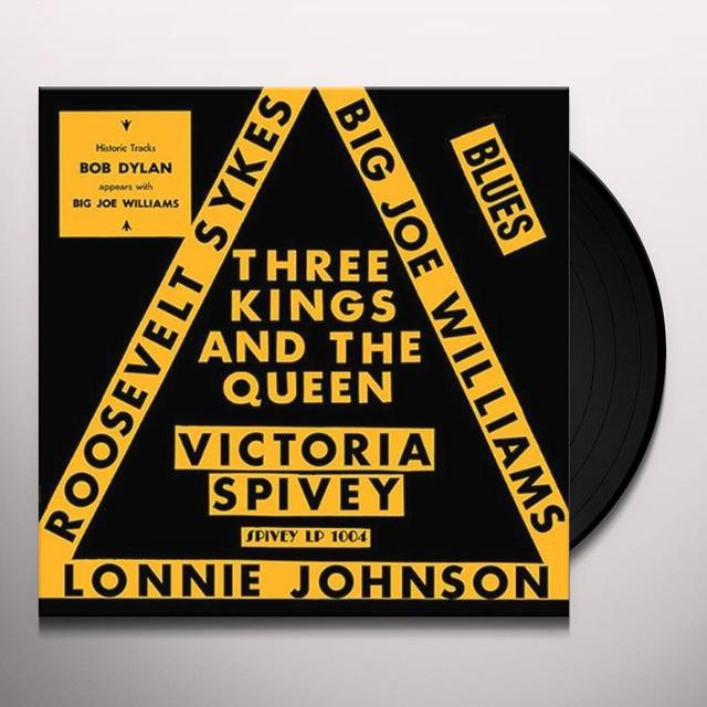 Victoria Spivey THREE KINGS & THE QUEEN Vinyl Record
