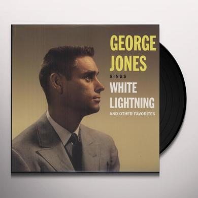 George Jones SINGS WHITE LIGHTNING & OTHER FAVORITES Vinyl Record