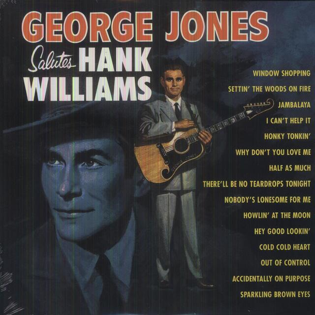 George Jones SALUTES HANK WILLIAMS Vinyl Record