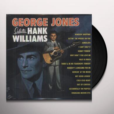 George Jones SALUTES HANK WILLIAMS Vinyl Record