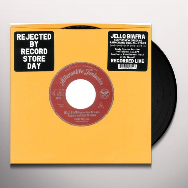 Jello Biafra / New Orleans Raunch / Soul All-Stars FANNIE MAE / JUST A LITTLE BIT Vinyl Record