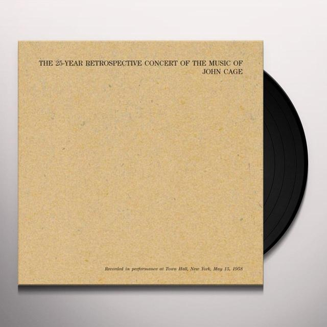 John Cage 25-YEAR RETROSPECTIVE CONCERT OF THE MUSIC OF JOHN Vinyl Record