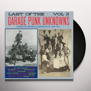 LAST OF THE GARAGE PUNK UNKNOWNS 3 / VARIOUS Vinyl Record