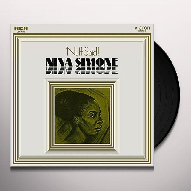 Nina Simone NUFF SAID Vinyl Record - Holland Import