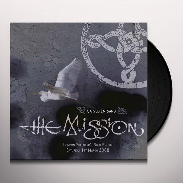 Mission CARVED IN SAND Vinyl Record - UK Release